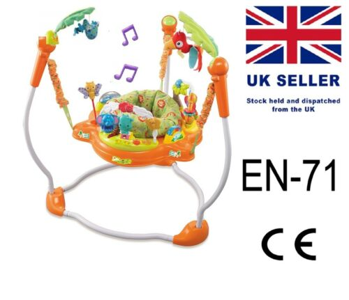 Baby Rainforest Jungle Jumperoo bouncer fun toy activity music,Lights 4 M+