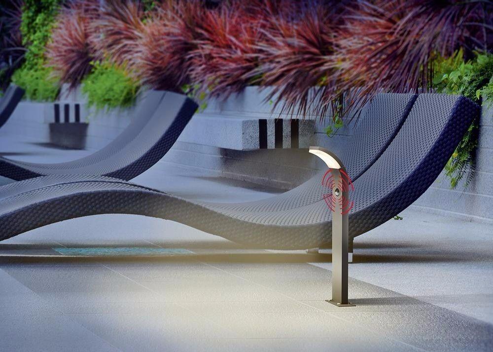 Led Lámpara de Pie Sensor Movimiento Luz Camino Jardín