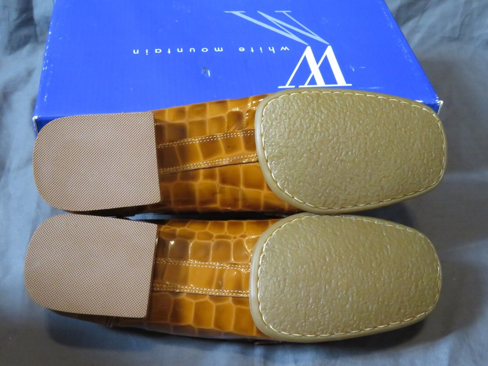 Nuevo Para Para Para mujeres blanco Mountain  Tess  tan esmaltado Cocodrilo mocasines Carmel Marrón Talla 9.5 bd333e