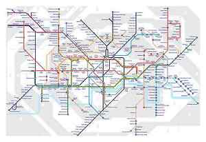 image is loading large framed print london underground tube map picture