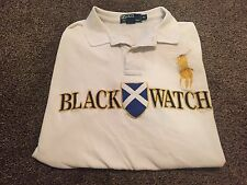 VTG BLACK WATCH #2 Polo Ralph Lauren Big Pony Shirt Rare Stained Pits