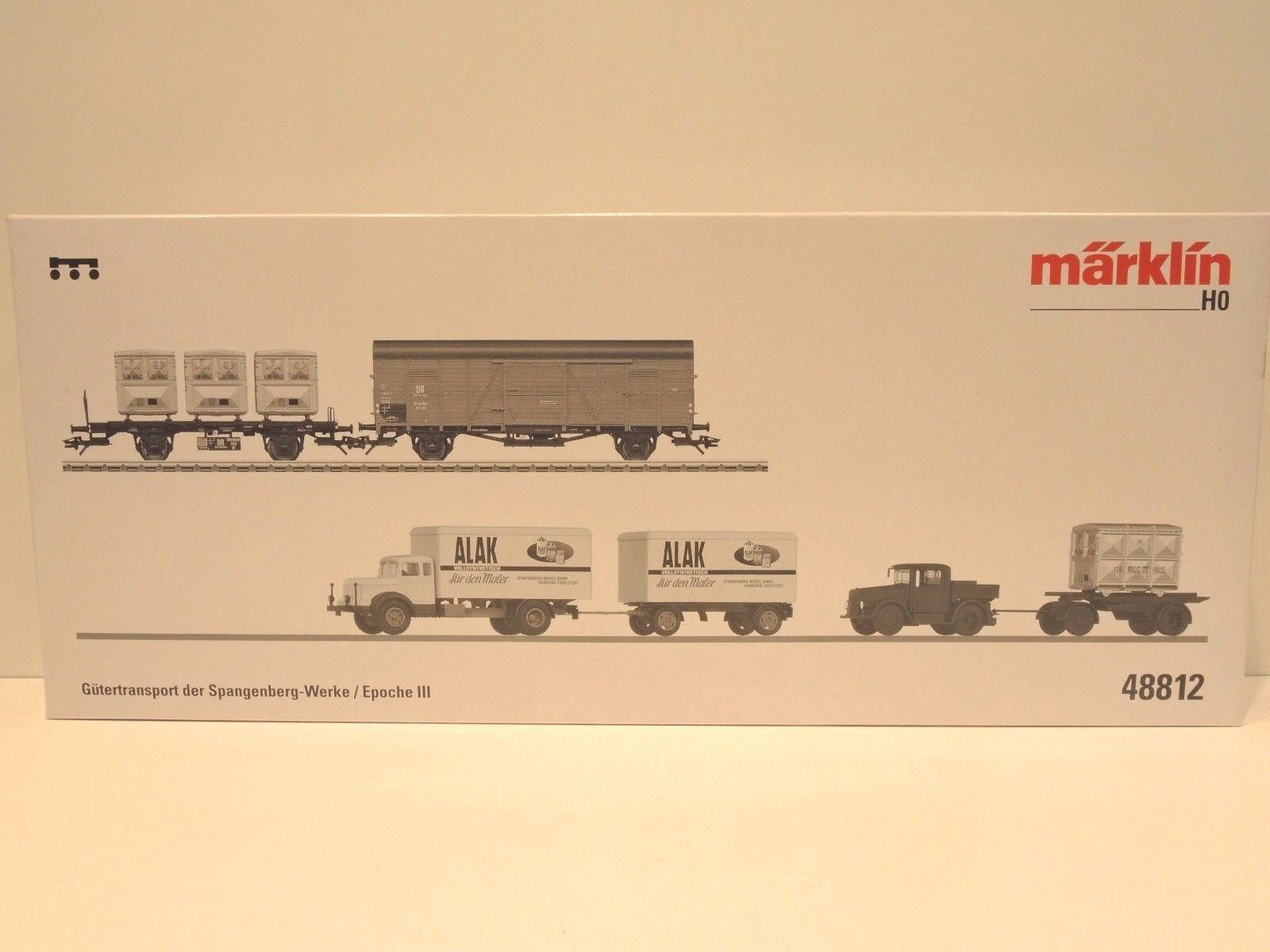 Märklin 48812 transporte de mercancías de la Spangenberg-Werke época III, kkk OVP