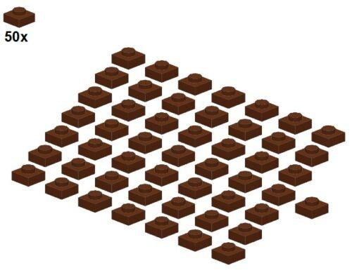 - Platte 1x1 Plates 50Stk Braun 3024-11 LEGO® Reddishbrown