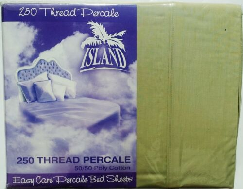 Brand New ISLAND KING BED SHEET SET GREEN  FITTED 2 PILLOW CASES FLAT SHEETS