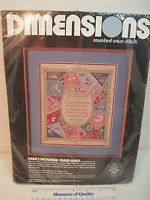 Counted Cross Stitch Crazy Quilt Kit Victorian Dimensions Embroidery Sealed R3