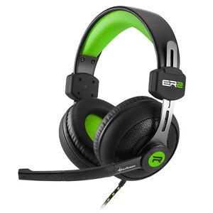 Sharkoon-RUSH-ER2-Gruen-satter-Sound-farbenfrohes-Design-Stereo-Headset