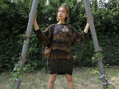Fiducioso Donna Vestito Patchwork Toni 90er True Vintage Women Dress Earth Colors 90s-mostra Il Titolo Originale 2019 Ultima Vendita Online Stile 50%
