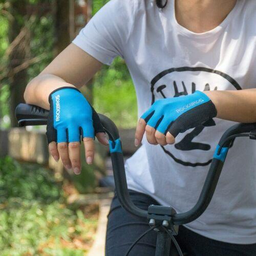 Details about  /ROCKBROS Cycling Half Finger Short Gloves Shockproof Breathable MTB Bike Gloves