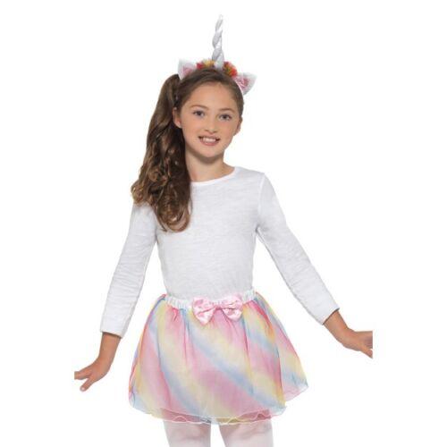 Unicorn Tutu /& Headband Kids Fantasy Fancy Dress Instant Ages 4-12