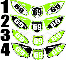 Graphic for 2013-2015 Kawasaki KX250f KX 250f KXF Number Plates Side Panel Decal
