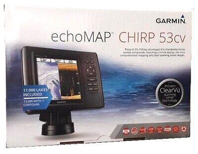 Garmin EchoMAP 53cv Chartplotter CHIRP Sonar + US LakeVu + Transducer  753759176051   eBay