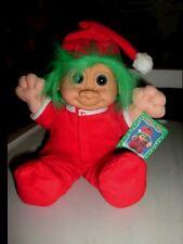 "Russ Berrie® Troll Kidz® 12"" Jangles MINT - Trap Door Pajamas & Santa Hat - SALE"