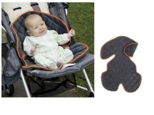 New Sunshine Kids Soft Ride Comfort Car Seat//Buggy Cushion Liner Grey /& Orange