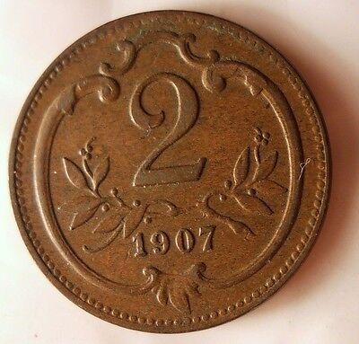 Excellent Vintage Coin 1907 AUSTRIA 2 HELLER AUSTRIA//HUNGARY BIN #1