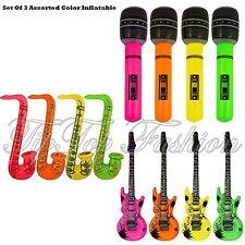 Nuevo Conjunto de 3 Guitarra Inflable, saxofón, micrófono - 3 artículos surtidos Vestido de fantasía