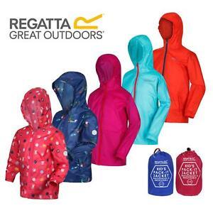 Regatta Kids Pack it Jacket II Lightweight Waterproof Packaway Jacket Boys Girls