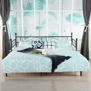 Single Metal Day Bed Guest Bed Frame Sofa With Trundle Bed Frame
