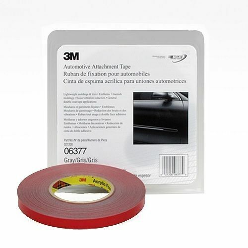 3M 06377 1/2 Inch x .76 mm Automotive Double Sided Attachment Tape