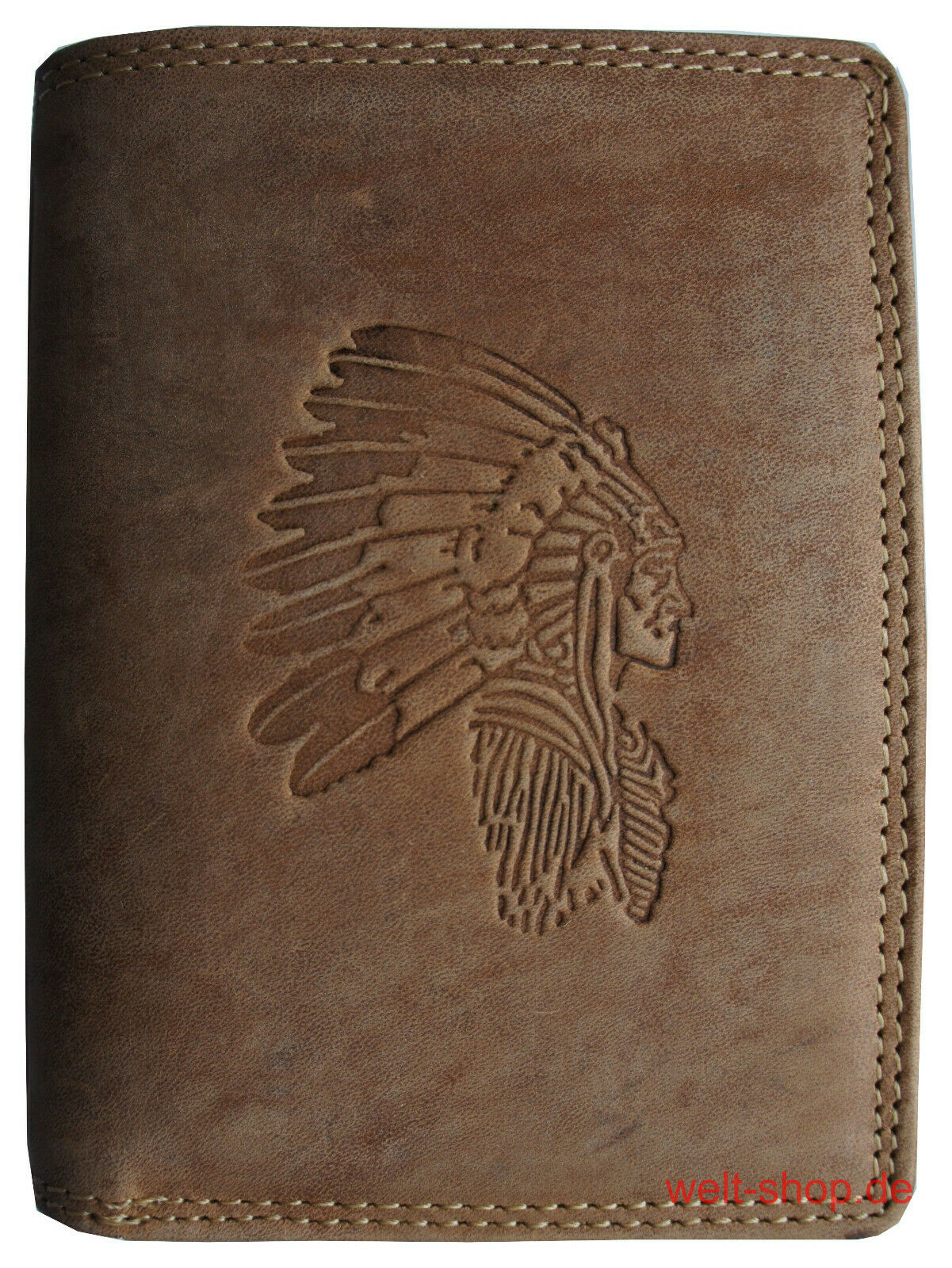 Hochwertige Geldbörse Geldbeutel Portemonnaie Büffel Leder Indianer Börse RFID
