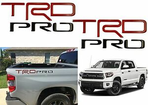 Red /& Black TRD Pro Domed Letters for Toyota Tundra 2014-2019 Raised Inserts
