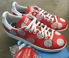 Adidas X Pharrell Stan Smith Big Polka Dot Red Sz 10.5 NIB White