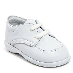 Baby Boy White Leather shoes with Laces: Size 3 to 8 Made ...
