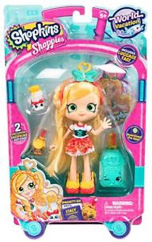 Shopkins shoppie SPAGHETTI sue Bambola VISITE ITALIA MONDIALE Vacanza