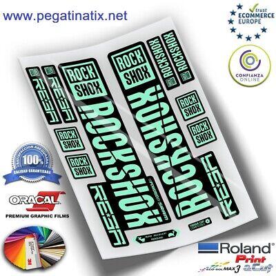 Stickers Horquilla Fork Stickers Gabel Aufkleber Rockshox Reba 2019 Wp271