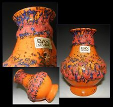 "BAY Keramik ""Blister Glaze"" Vase West German Pottery WGP MCM FAT LAVA RETRO"