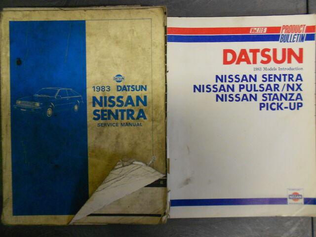 Diagram  1988 Nissan Sentra Service Shop Repair Set Oem