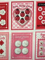 Cr272 Retro Sweet Heart Valentine Buttons Sewing Cotton Fabric Quilt Fabric