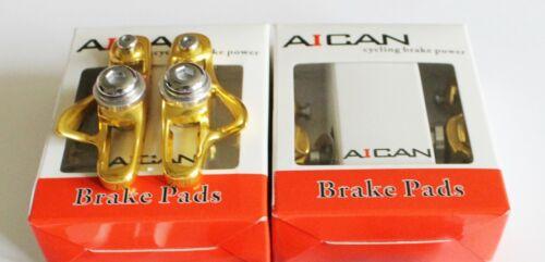 Gold Aican Road bike brake Super Light holder shoes catridge fit Shimano 2 pc