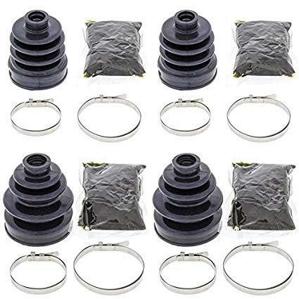 Complete Front Inner /& Outer CV Boot Repair Kit for Kawasaki Mule 3010 4X4 2001