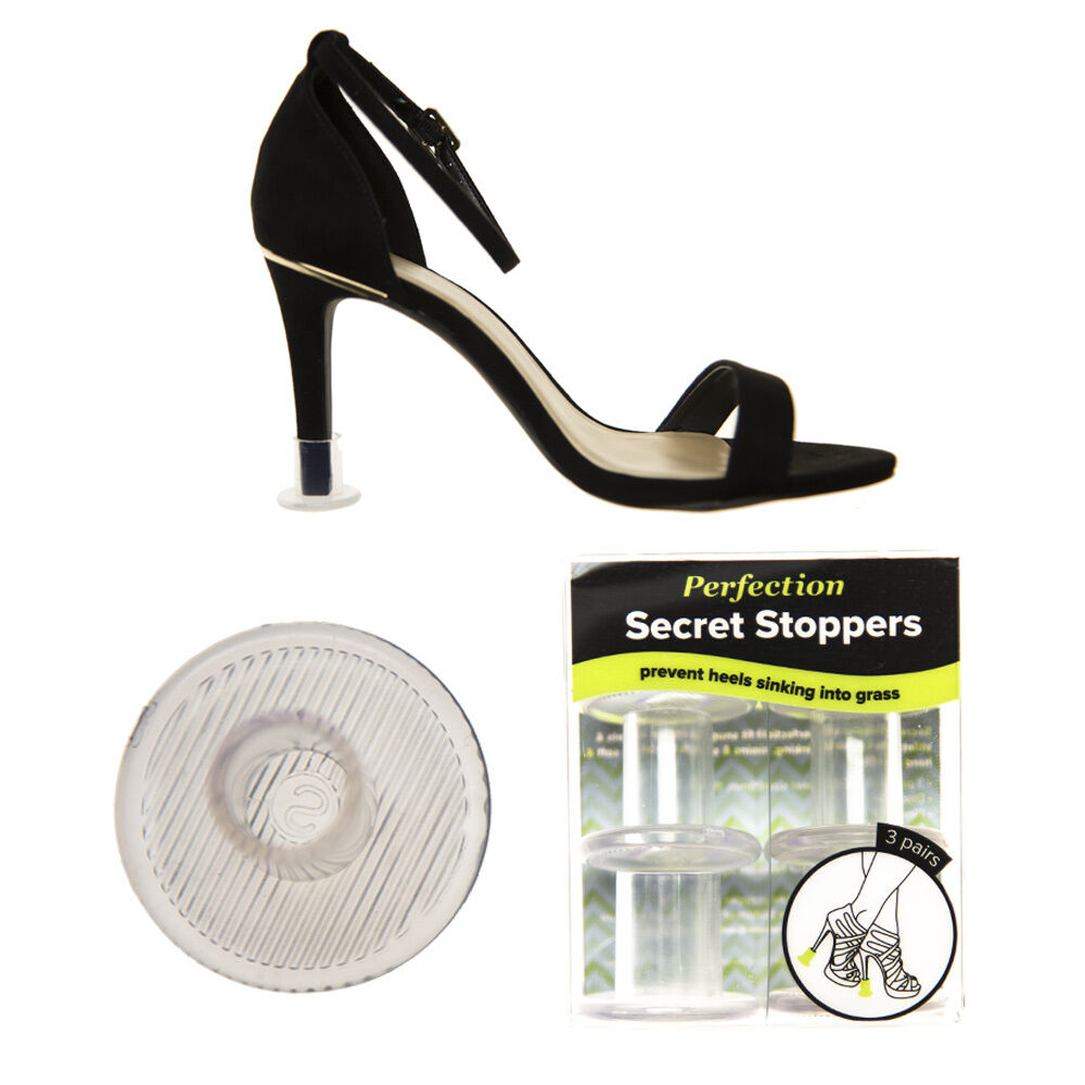 Moda jest prosta i niedroga Perfection Secret Stoppers Invisible Heel Protectors For High Heels 3 Pairs