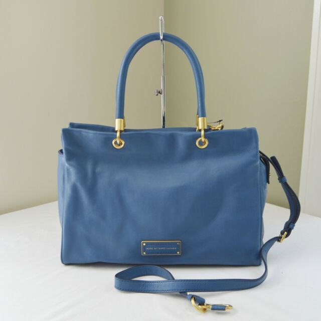 Marc By Jacobs Blue Stone Too Hot To Handle Tote Carry All
