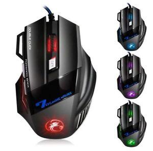 Gaming-Maus-7200-DPI-Optisch-Kabel-7-Tasten-USB-Gamer-Mouse-PC-Notebook-Laptop