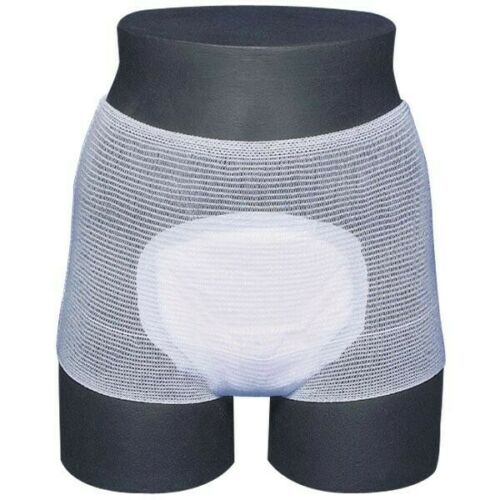 White Disposable Maternity Knickers Hospital Incontinence Pants x 5