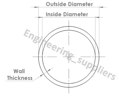 Steel Pipe Tube Cold Drawn Seamless CDS 5//16 to 13//16 16swg /& 14swg 100-600mm