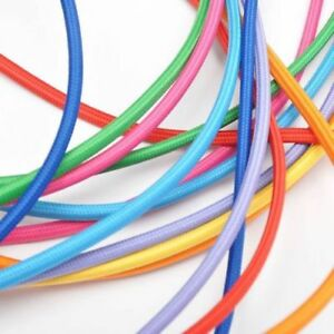 3-Core-Round-Braided-Fabric-Cable-Lighting-Lamp-Flex-Vintage-Choice-of-Colours