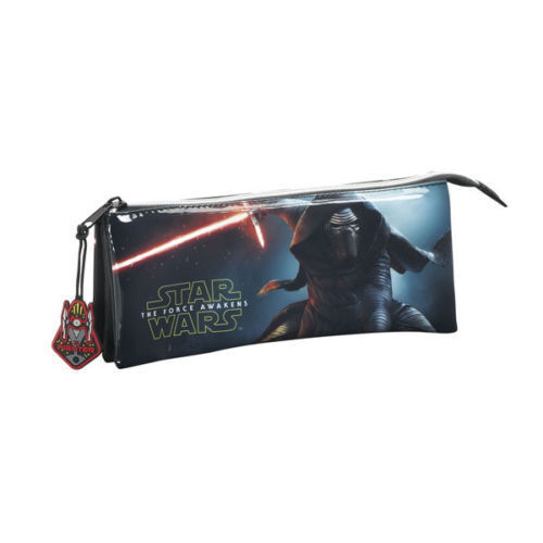 Brand New Star Wars Childrens//Kids Official Force Awakens Triple Pencil Case