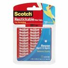 Scotch Restickable Tabs 0.5 Inch Squares 72 Tabs R103