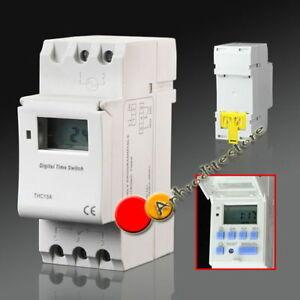 DIN-rail-LCD-DIGITALE-ALIMENTAZIONE-PROGRAMMABILE-TIMER-AC-12V-220V-16A-tempo