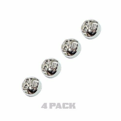 4 Chrome Skull License Plate Frame Screw Caps /& Bolt Covers Motorcycle or Car