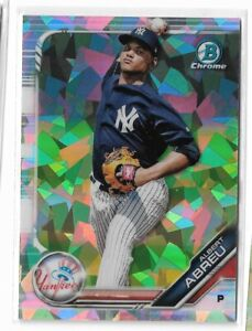 2019 Bowman chrome prospects atomic refractor parallel Albert Abreu
