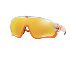 Oakley Jawbreaker 9290 37 Fire Iridium Crystal Pop Cycling