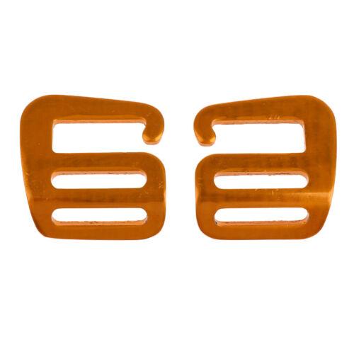 2x G Haken Gurtband Schnalle aus Aluminium für Rucksack 25mm Webbing Buckle