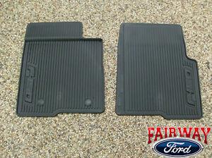 10 thru 14 ford f 150 oem black rubber all weather floor. Black Bedroom Furniture Sets. Home Design Ideas