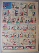 Mickey Mouse Sunday Page by Walt Disney from 7/25/1937 Tabloid Page Size