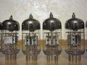 2x-6N2P-EV-12AX7-ECC83-UdSSR-Double-Triode-Voskhod-Neu-amp-NOS