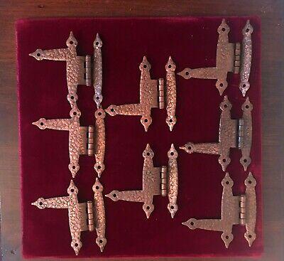 "Colonial Offset Hinge Stamped Antique Copper Color 3 1//2/"" Set of 2"